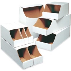 12x12x4 1/2''  Stackable Bin Boxes 50ct