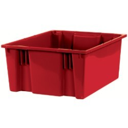 18 1/4x20 7/8x9 7/8'' Red Stack & Nest Container 3ct