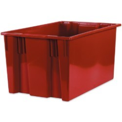 18 1/4x26 5/8x14 7/8''  Red Stack & Nest Container 3ct