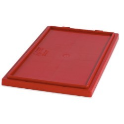 26 5/8x18 1/4'' Red Stack & Nest Lids 3ct
