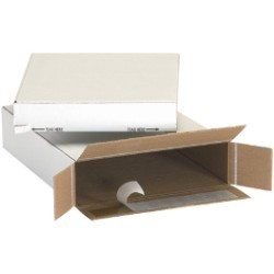 11 1/8'' x 2'' x 8 3/4''  Self Seal Side Loading Boxes - bundle of 25