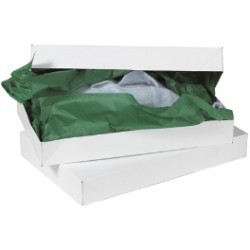 17'' x 11'' x 2 1/2'' White  Apparel Boxes - case of 50