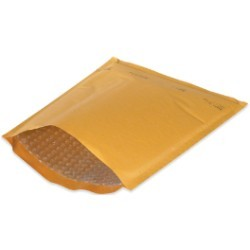 7 1/4'' x 12'' (1) Kraft  Heat-Seal Bubble Mailers (25 Pack) - case of 25