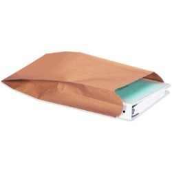 8 1/2'' x 3 1/4'' x 14 1/2''  Gusseted Nylon Reinforced Mailers - case of 500