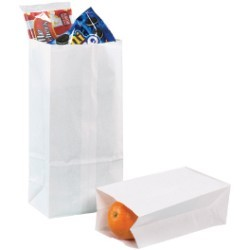 11'' x 6'' x 3 5/8'' White  Grocery Bags - case of 500