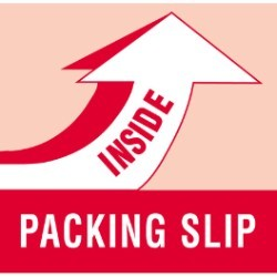 4'' x 4'' - ''Packing Slip Inside'' Labels - 500 per roll