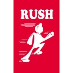 4'' x 6'' - ''Rush'' Labels - 500 per roll